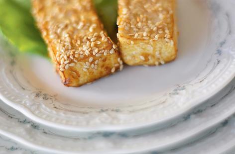 Le tofu pané aux sésames