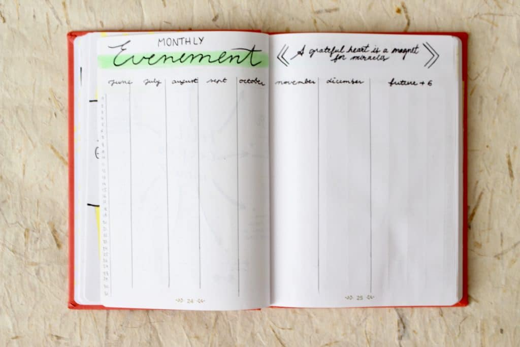 Bullet-journal-exemple-calendrier-evenement