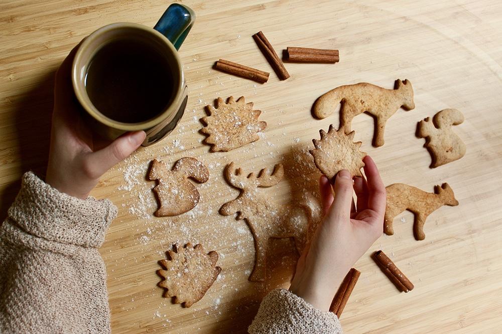Biscuits vegan de Noël aux épices – zimtsterne vegan