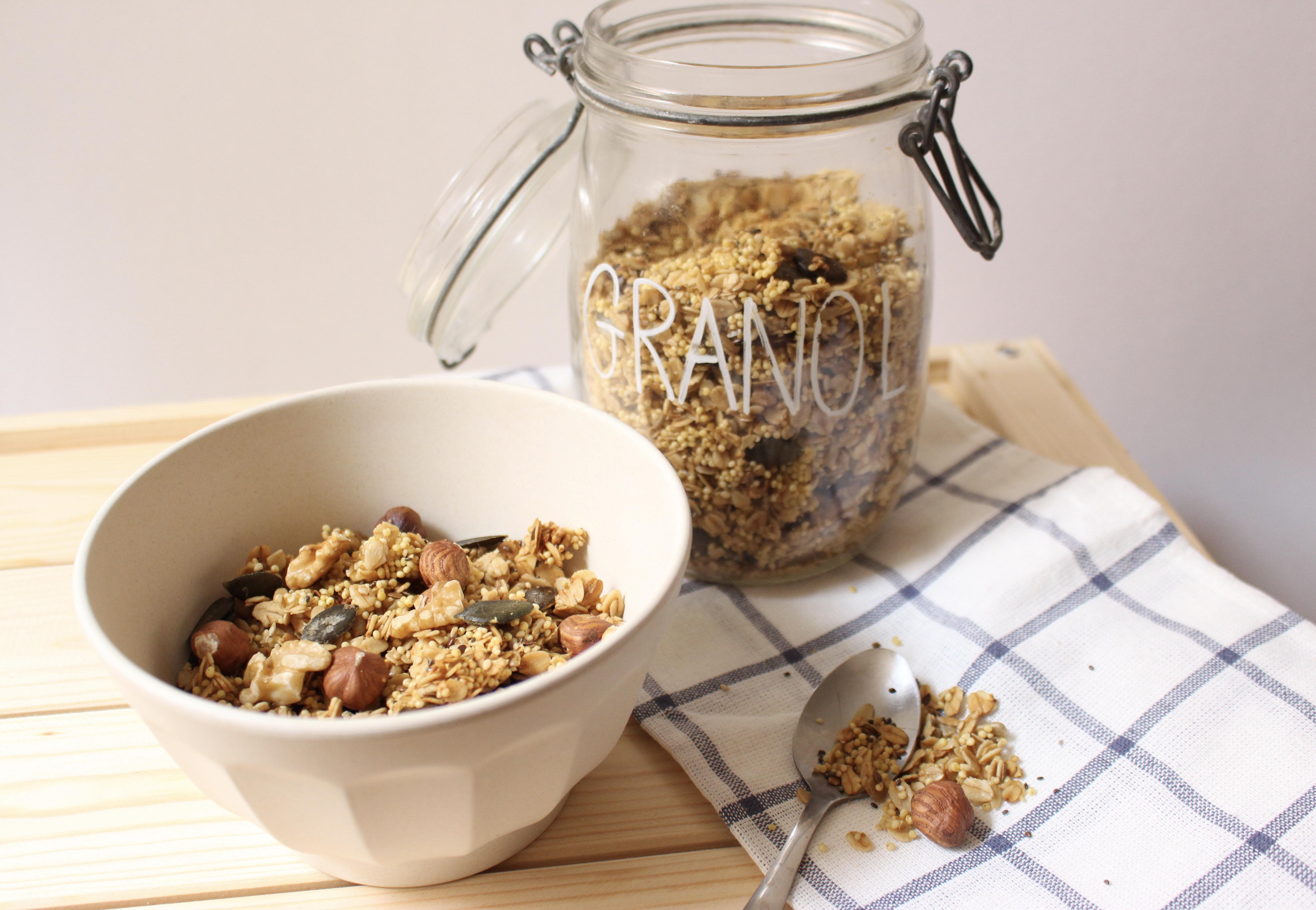 Recette de granola vegan, sain et gourmand
