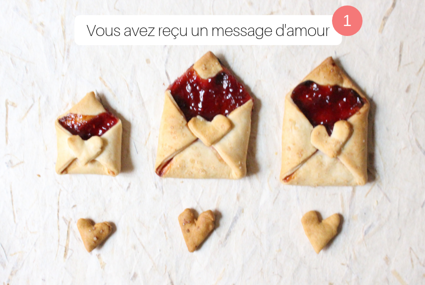 Gâteau lettre d'amour saint-valentin