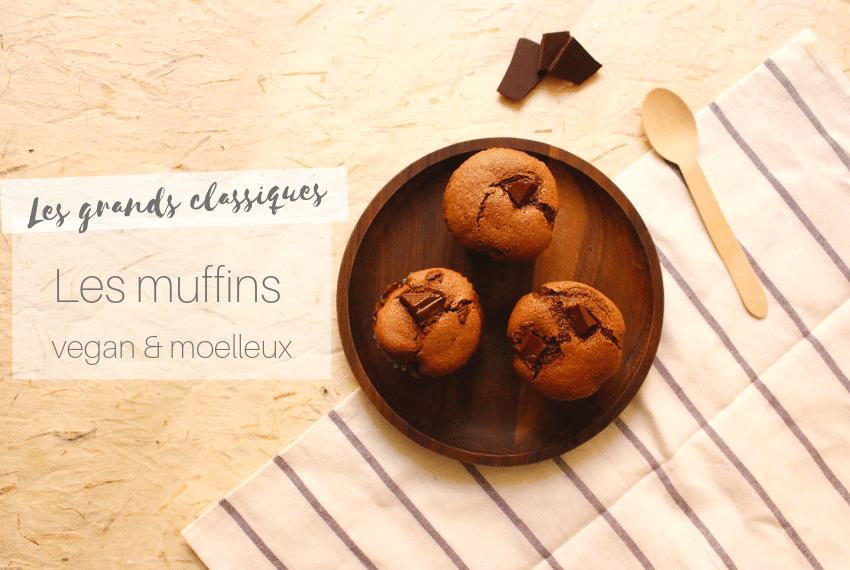 Muffins vegan et moelleux au chocolat