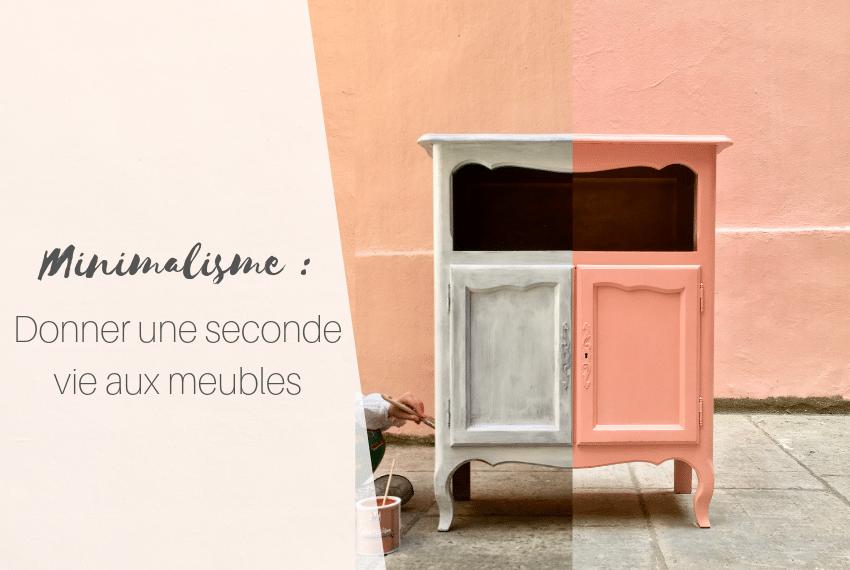 Minimalisme, donner une deuxième vie à un vieux meuble : peindre un meuble de campagne