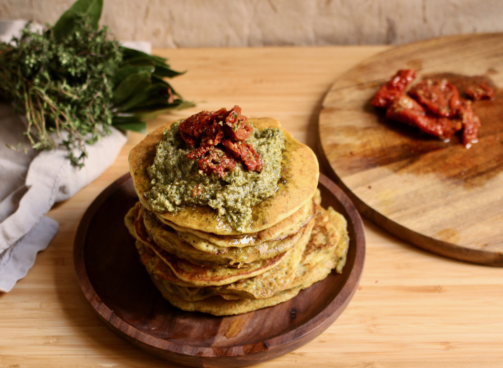 pancakes-vegan-sales-facile-rapide-sans-oeufs