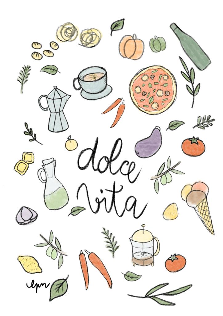 affiche-creatrice-maison-italie-Dolce_Vita