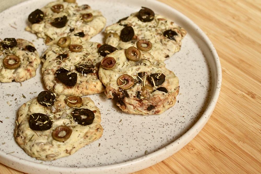 Cookies salés aux olives vegan
