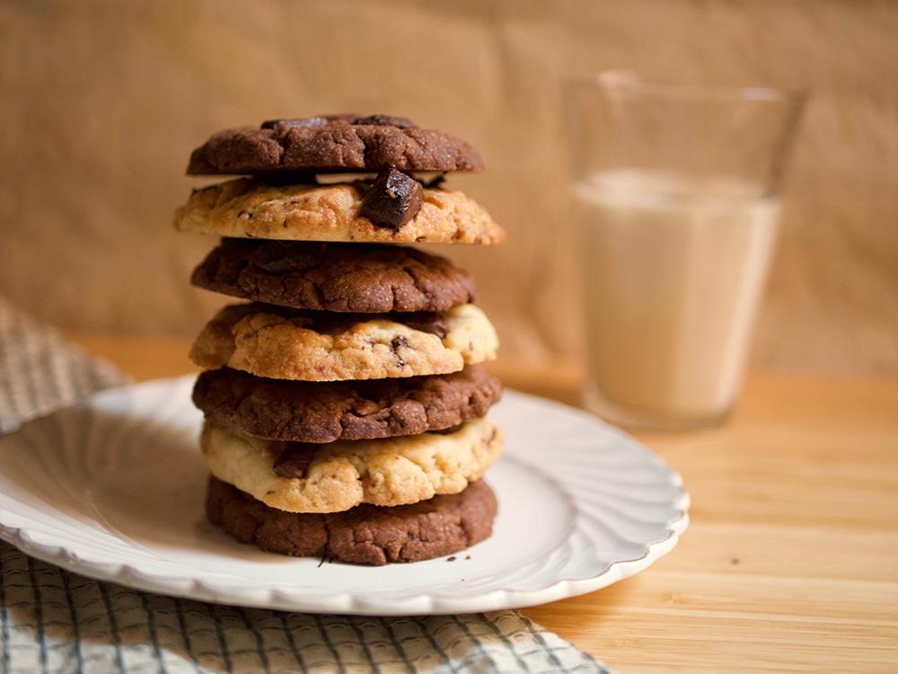 Cookies vegan moelleux au chocolat